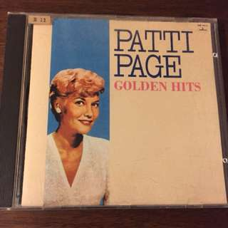 Audiophile patti page golden hits T113-01 first pressing cd