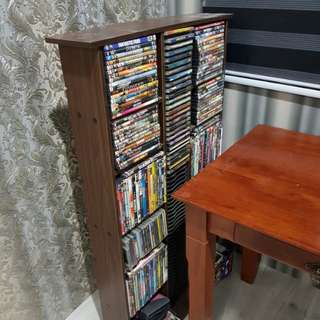 DVD/CD Rack With All The DVD/CD As Per Picture
