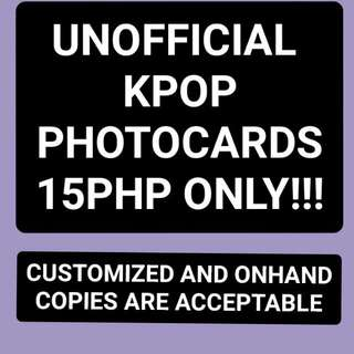 Unofficial Kpop Photocards