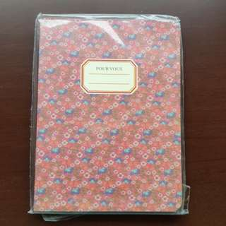 Floral Design Mini Notebook