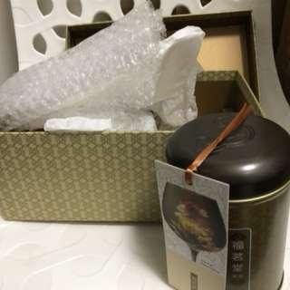 福茗堂茶葉禮盒套裝連玻璃杯