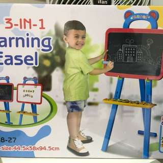 Brand new easel with magnetic alphabets
