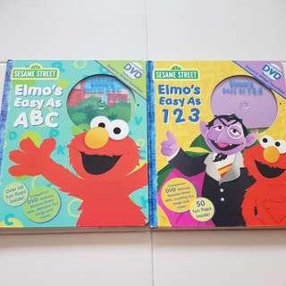 Preloved Sesame Street ABC and 123 Books