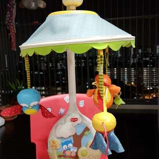 Baby cot mobile with music and projector