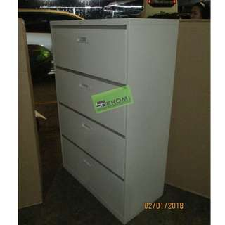 4 LAYER LATERAL CABINET BEIGE COLOR--KHOMI