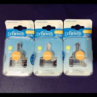 Dr. Brown's Natural Flow Silicone Nipples Level 3 (3 packs)