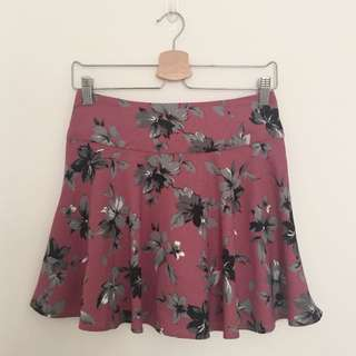 Floral Skort Rok Celana Skirt Shorts Celana Pendek Bawahan Wanita