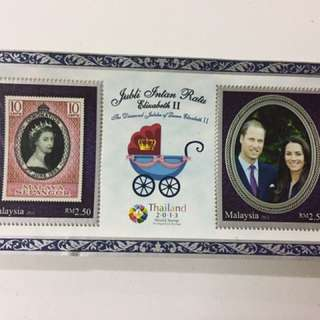 RM2.50 x 2 stamps & FREE SHIPPING