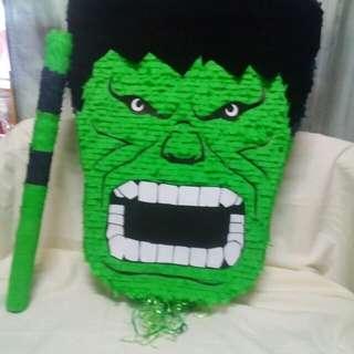 Hulk head piñata