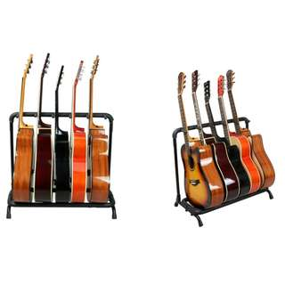 Premium Foldable Guitar rack stand Secured strong Tried with Bass guitar , electric guitar , acoustic guitar , guitalele and ukulele ! Guitar stand Secured strong