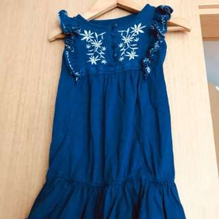 Old navy dress with pretty embroidery