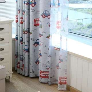 Transport Children Kids Curtains