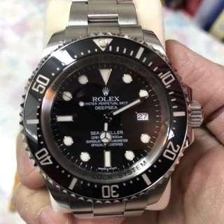 勞力士ROLEX 行貨V頭MK1小丑皇冠黑面116660 Deepsea