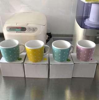 Pastel Pokka Dot Cups