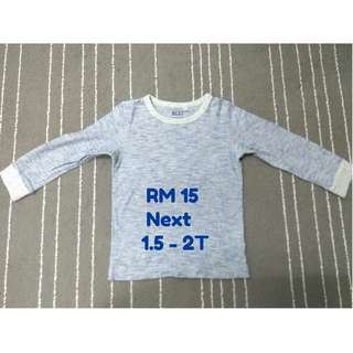 NEXT T-Shirt (long sleeve) for boy, 2T/24M (Preloved)
