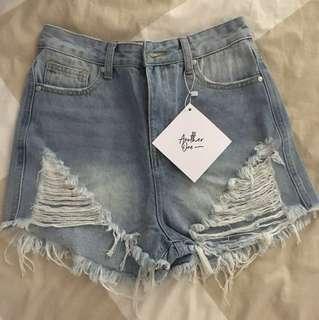 Denim High-wasted Shorts