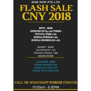 FLASH PROMOTION 14-21 FEB CNY SALE 14-21 Feb $428 onwards