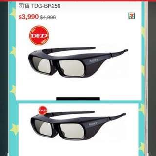 原價op$1000 @未拆盒原裝Sony 3D 眼鏡一對,有兩對,Original price$1000 @two pairs of brand new in box unused Sony 3 D eyeglasses