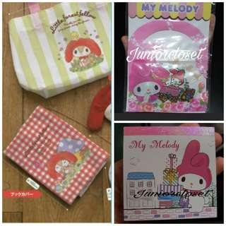 [Juniorcloset] 🆕 Authentic Sanrio Kuro Kuro My Melody little forest fellow book cover Melody notebook