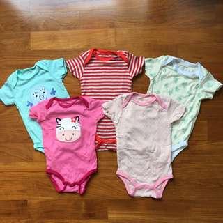 Carter's Bodysuits (6 months)