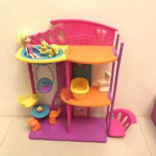Polly Pocket Doll House + Accessories