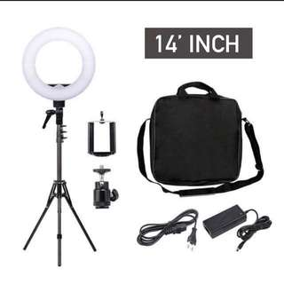 Studio LED Ringlight (14inch) Photography Beauty Lighting With Light Stand Tripod Set