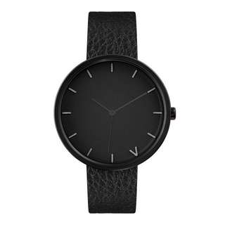 The 5th Tokyo All black leather women watch