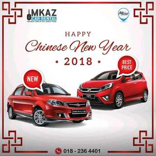 KERETA SEWA : CHINESE NEW YEAR DEALS