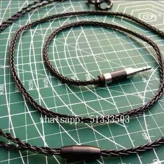 單晶銅渡銀黑色耳機線 升級線 SE IE80 MMCX UE 鐵三角