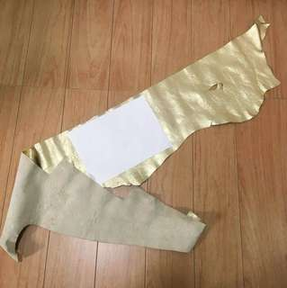 Large Gold cow hide leather
