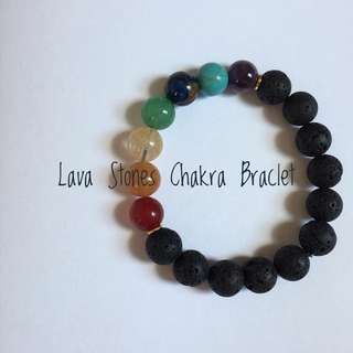 Chakra Lava Stone Diffuser Bracelet