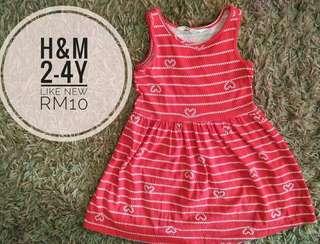 2-4y h&m dress