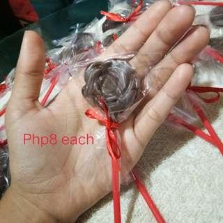 Choco on Sticks / Chocolate Lollipop - Flower Shape
