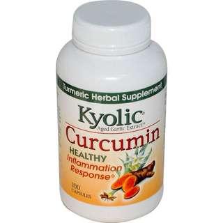 Kyolic, Aged Garlic Extract, Inflamation Response, Curcumin, 100 Capsules