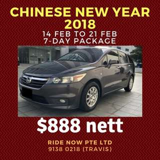 FLASH SALE CNY 14-21 FEB from $428!