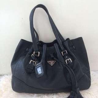Prada Genuine Leather Bag Tote Shoulder Bag