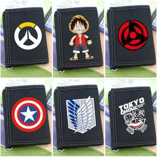 Overwatch Kids One Piece Anime Coin Wallet