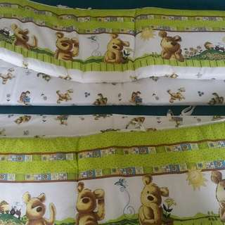 Baby cot bumpers and play mats