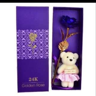 Valentine 24k Gold foil Flower