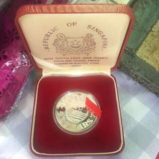 Singapore 1983 $5 12th South East Asia Games Silver Proof Coin