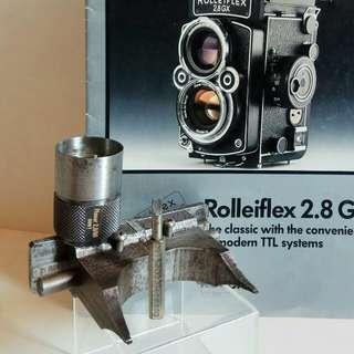 罕有绝版德國製,原廠Rolleiflex 2.8F  Planar 修理工具2個 + 專業開鏡頭修理工具1個 :附送绝版雙鏡機Catalog1份 (歲月實用收藏品)