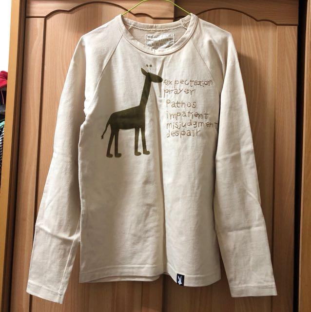 小資女孩👧100%純棉長頸鹿衛衣/上衣