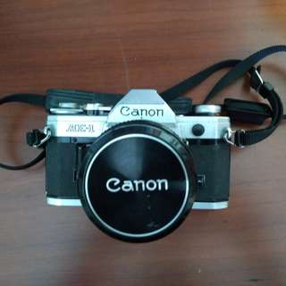 CANON AE-1 35mm film camera w/ 50mm 1:1.8 Lens & Zoom Lens FD 100-300mm 1:5.6