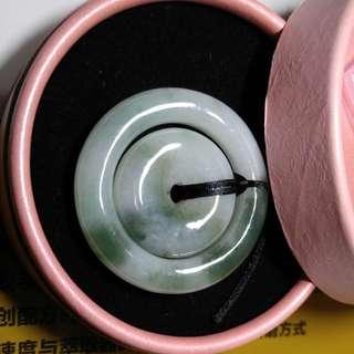 翡翠子母平安扣 43.8x6.8mm 27.7x7.4mm
