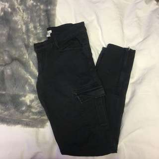 Cargo Black Jeans Size 1