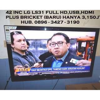 42 LG Led Tv Full Hd Hdmi Vga Usb Plus Bricket(Baru) KATAPANG SOREANG