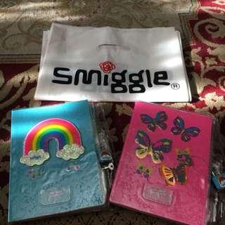 Smiggle Notebook with padlock design