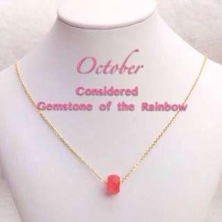 Birthstone necklace ( October)