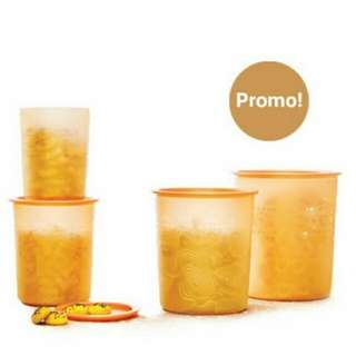 Tupperware Mosaic Canister Toples