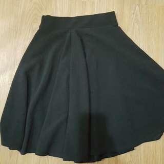 Mid-length Black Skirt